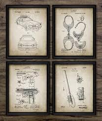 8x10 police patent wall art prints