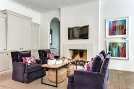 living room purple accent chairs living room velvet chairs slim sleek coffee table fireplace tv