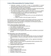 Sample Letter Of Recommendation For Graduate School Pdf