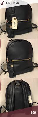 nwt margot soft leather backpack purse new with tags soft and supple black with gold hardware