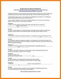 8 Resume Sample Objectives Activo Holidays