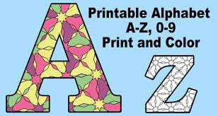 Alphabet coloring page with few details for kids : Alphabet Coloring Pages Printable Number And Letter Stencils Patterns Monograms Stencils Diy Projects
