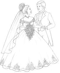 Nice Wedding Dress Coloring Pages 5177 Wedding Dress Coloring Pages