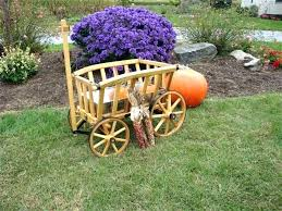 decorative garden wagon wooden carts planter green you of found car