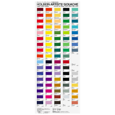Art Spectrum Colour Chart Holbein Gouache Paint Printed Colour Chart Jacksons