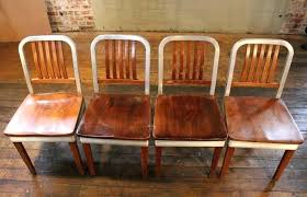 vintage metal dining chairs. Fine Chairs Vintage Metal Dining Chairs Set Of Eight  Wood And Aluminium Side Walker With