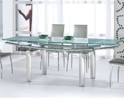 Modern Glass Kitchen Table Glass Dining Table Set White Clear Glass Windows Modern Glass