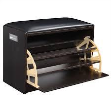 shoe storage furniture for entryway. amazoncom giantex wood shoe storage cabinet bench ottoman closet shelf entryway pu leather seat home u0026 kitchen furniture for f