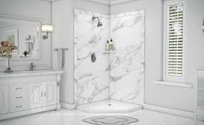 diy faux stone decorative grout free shower wall panels innovate building solutions