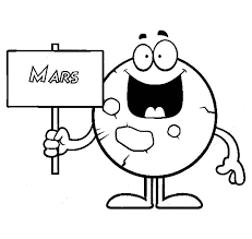 Small Picture Planet Mars Holding a Sign Coloring Pages Color Luna
