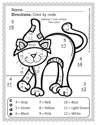 Halloween Math Coloring Pages Maths Pictures To Colour Worksheets ...