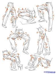 Pants Drawing Reference Pants Reference Art Reference Drawings Sketches Manga Drawing
