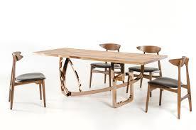 modrest auburn modern live edge wood dining table