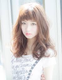 髪型ロングはデジタルパーマでゆるふわに 前髪命銀座美容室