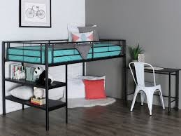 sunset twin low loft bed with desk