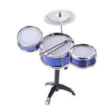 jazz drum and chair set kids early education toy percussion instrument blue
