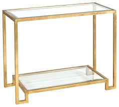 gold glass table worlds away gold leafed console table with beveled glass shelves g gold glass gold glass table