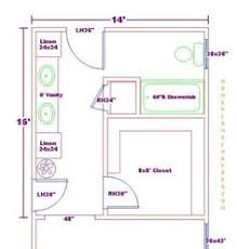 Simple Master Bathroom Floor Plans 12x12 Closet And Bath Plan Ideas Throughout Design