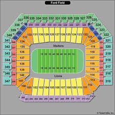 Ford Field Concert Seating Chart Ford Field Concert Tickets
