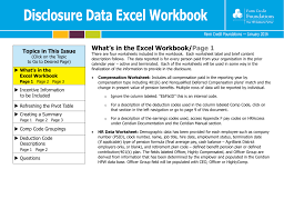 Nonqualified Deferred Compensation Plan Reporting Examples Chart Disclosure Data Excel Workbook