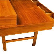 fancy flip top desk for home design peter danish modern teak hinges