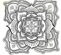 Small Picture Difficult Mandala Coloring Pages Printable Coloring Pages