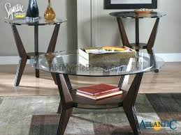 set of three coffee tables set of three coffee tables the glass and wood 3 table
