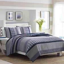 Nautica Quilts, Bedspreads and Coverlets | eBay & Nautica Adleson Pieced Cotton Collection Sham Quilted Standard Blue Grey  Nautica Adamdwight.com