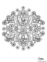 Adult Flowers Mandala Coloring Pages Printable