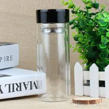 clear glass water bottle double layer glass tea cups bottle business tea bottle with 304 stainless steel infuser tumbler 77 uk 2019 from zw network