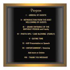 Retirement party program templates elegant 50th birthday program. Pin On Joes