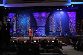 Throwback Light Showers Church Stage Design Ideas