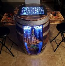 arcade machines made out of whiskey