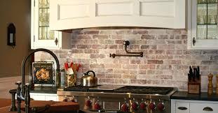 faux brick tile backsplash kitchen design splendid modern faux brick ...