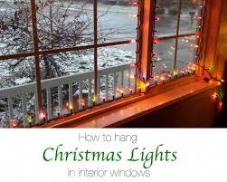 Attaching Christmas Lights Inside Windows Christmas Light Hanger Strip