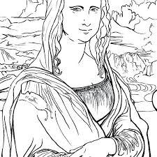 Mona Lisa Coloring Page Beautiful Coloring Page Mona Lisa Coloring