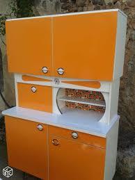 Meuble Vintage De Cuisine Des Années 60 En Formica Orange 70s
