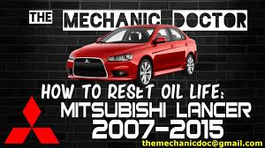 Mitsubishi Lancer Reset Service Light How To Reset Oil Life Mitsubishi Lancer 2007 2008 2009
