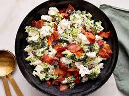 Cauliflower Salad Recipe Cooking Light Broccoli Cauliflower Salad With Bacon