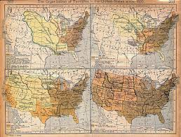 documents for the study of american history us history amdocs   1809 map of the organization of us territories
