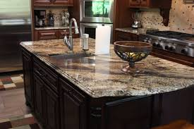 Kitchen Countertops Granite Unusual Kitchen Design With Brown Kitchen Cabinet And Granite