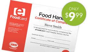 Efoodcard amp; Handlers Certification Training Food