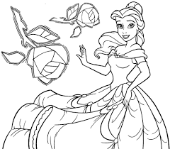 Don't forget to check out ninja turtles coloring pages. Cartoon Printable Princess Belle Coloring Pages Coloringtone Book