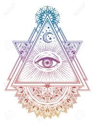 Triangle Composition With Sacred Geometry Eye Vision Of God
