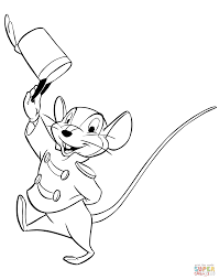 Small Picture Timothy Q Mouse coloring page Free Printable Coloring Pages