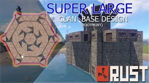 Rust Clan Base Design 2019 Rust Large Clan Base Design Footprint Rust Base Design