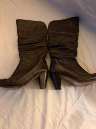 Frye Dark Brown Dorado Slouch Boots Women Size 9