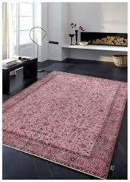 vintage patchwork overdyed pink wool rug 19046