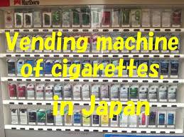 Cigarette Vending Machine Japan Gorgeous It Is Possible To Buy Cigarette From The Vending Machine In Japan