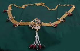 Kamarband Design Peacock Design Gold Plated Imitation Bridal Waist Belt